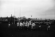 08/01/1965<br /> 01/08/1965<br /> 08 January 1965<br /> Irish Universities vs. Scottish Universities rugby game at Donnybrook Stadium, Dublin.