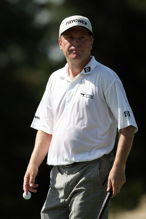 09 August 2007: Jeff Sluman on the 9th green during the first round of the 89th PGA Championship at Southern Hills Country Club in Tulsa, OK.