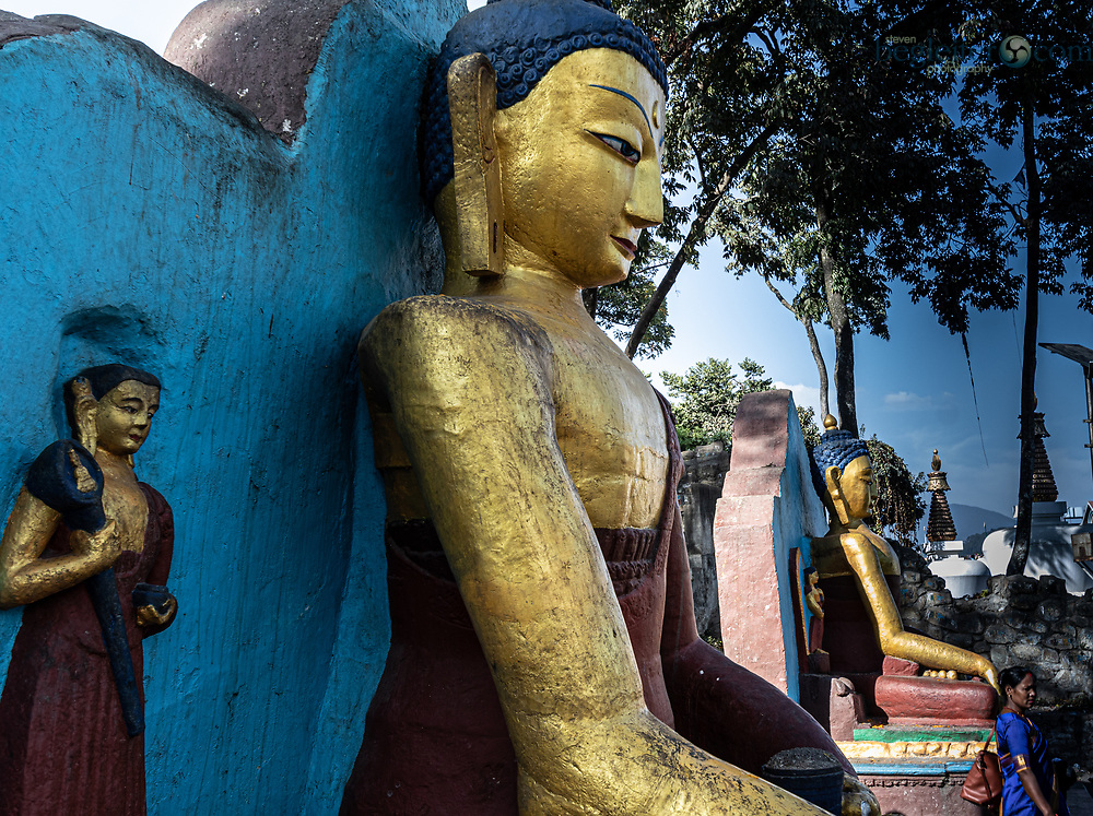 Buddha statues In the Ancient city of  Bhaktapur , Nepal
