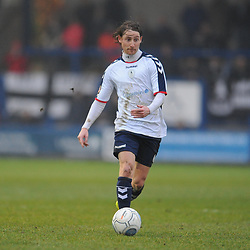 TELFORD COPYRIGHT MIKE SHERIDAN 19/1/2019 - James McQuilkin of AFC Telford during the Vanarama Conference North fixture between AFC Telford United and Kidderminster Harriers