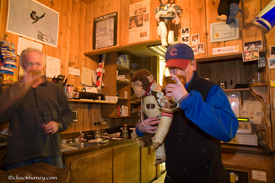 The Frabert Award Winner at the Bierstube in the village at Whitefish Mountain Resort in Montana