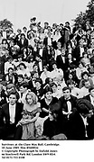 Survivors at the Clare May Ball. Cambridge. 10 June 1985. film 85400f24<br />