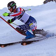 Seppi Stiegler, USA, in action during the Men's Slalom event during the Winter Games at Cardrona, Wanaka, New Zealand, 24th August 2011. Photo Tim Clayton...