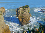 Erroded rocks in the ocean, North Island, New Zealand