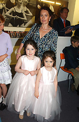 SIOBHAN GILDAY and her daughters Left, MILLIE and right, LOTTIE at a performance by the London Childrens Ballet of 'The Little Princess' at The Peacock Theatre, Portugal Street, London WC2 on 19th May 2005.<br /><br />NON EXCLUSIVE - WORLD RIGHTS