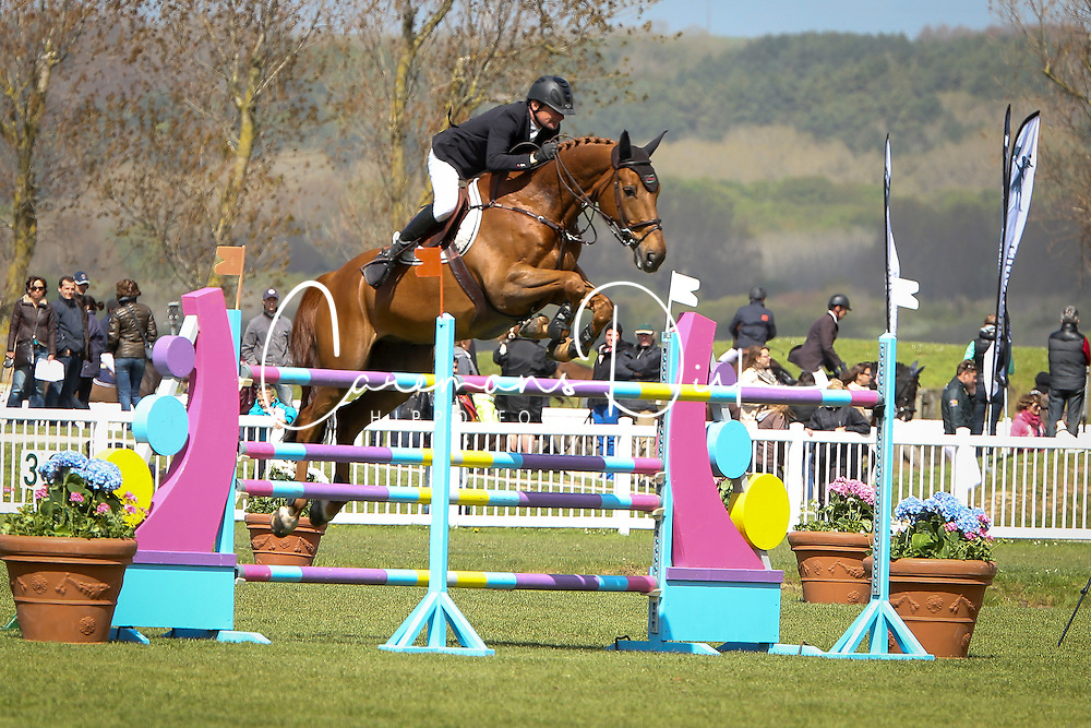 Phedras De Blondel the horse that was stolen and butchered here in competition with his former rider Christian Hermon<br /> CSI 3* Le Touquet 2013<br /> © Hippo Foto - Counet Julien<br /> 12/05/13