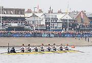 Putney, London, Varsity Boat Race, 07/04/2019, 2019 Oxford v Cambridge, Women's  Race, Women's Race, Championship Course,<br /> [Mandatory Credit: Patrick WHITE], Sunday,  07/04/2019,  2:14:18 pm,