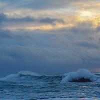 Waves break off the shores of Fort Bragg, California