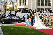 Religious wedding of Grand Duke Guillaume and Princess Stephanie at the Cathedral Notre-Dame in Luxembourg <br /> <br /> On the photo:  Grand Duke Guillaume and Princess Stephanie