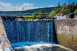 A lock on the Caledonian Canal at Fort Augustus being filled from the lock above<br /> <br /> (c) Andrew Wilson   Edinburgh Elite media