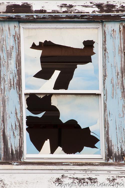 Broken Windows Detail, Abandoned Schools, Mare Island, Vallejo CA, California Cities, urban decay, abstract patterns, weathered wood, graffiti art
