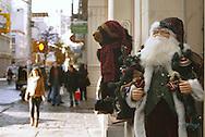 A Santa on display at the front door of Runway on Broome Street in SoHo on Nov. 29, 2007.