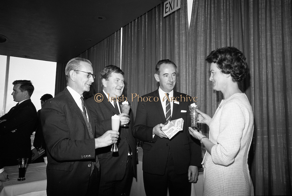 'Dream Topping' launched by Birds at Intercontinental Hotel. The topping was marketed as 'a great standby to have in the cupboard'. <br /> 06.10.1966