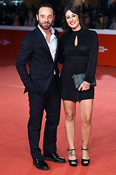 Ludovico Freemont and companion during the red carpet for The House With A Clock in its Walls premiere at the Rome Film Fest on October 19, 2018