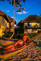 Woman on the beach, Reef Club Beach Resort, Isla Cozumel, Mexico