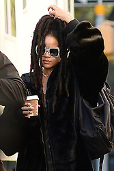 November 7, 2016 - New York, NY, USA - November 7, 2016 New York City..Rihanna arrives to the film set of Ocean's Eight in Central Park on November 7, 2016 in New York City. (Credit Image: © Kristin Callahan/Ace Pictures via ZUMA Press)