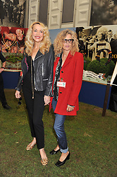 Left to right, JERRY HALL and SUZANNE WYMAN at the 2013 RHS Chelsea Flower Show held in the grounds of the Royal Hospital, Chelsea on 20th May 2013.
