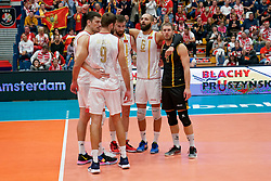 19-09-2019 NED: EC Volleyball 2019 Czech Republic - Montenegro, Amsterdam<br /> First round group D Montenegro win 3-2 / /Vojin Cacic #6 of Montenegro, Nikola Lakcevic #8 of Montenegro