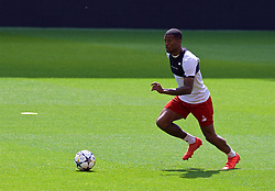 LIVERPOOL, ENGLAND - Monday, May 21, 2018: Liverpool's Georginio Wijnaldum during a training session at Anfield ahead of the UEFA Champions League Final match between Real Madrid CF and Liverpool FC. (Pic by Paul Greenwood/Propaganda)