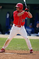 15 February 2007: Matt Bolt. Indiana State Sycamores gave up the first game of the double-header by a score of 16-6 to the Illinois State Redbirds at Redbird Field on the campus of Illinois State University in Normal Illinois.