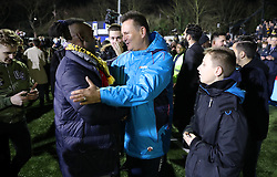 Sutton manager manager Paul Doswell after the Emirates FA Cup, Fifth Round match at Gander Green Lane, London.