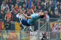 Esultanza dopo il gol edl rigore di Anderson Hernanes <br /> Roma, 04/03/2012 Stadio Olimpico<br /> Football Calcio 2011/2012 <br /> Roma vs Lazio<br /> Campionato di calcio Serie A<br /> Foto Insidefoto Antonietta Baldassarre
