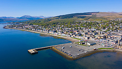 Aerial view of Helensburgh, Argyll and Bute, Scotland, UK