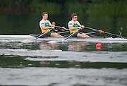 Lucerne, SWITZERLAND. AUS M2X move away from the start at the 2014 FISA WC III, Lake Rotsee.  10:14:58  Friday  11/07/2014  [Mandatory Credit; Peter Spurrier/Intersport-images]  2014 FISA WC III, Lake Rotsee.  10:15:04  Friday  11/07/2014  [Mandatory Credit; Peter Spurrier/Intersport-images]