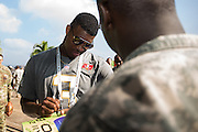 January 27 2016: Tampa Bay Buccaneers Jameis Winston signs autographs during the Pro Bowl Draft at Wheeler Army Base on Oahu, HI. (Photo by Aric Becker/Icon Sportswire)
