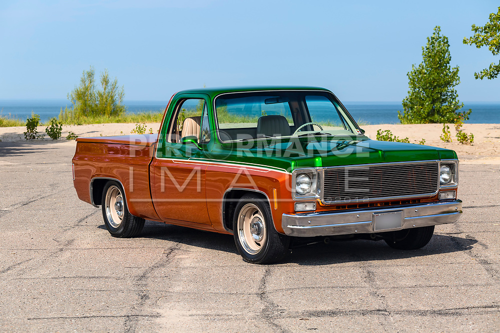 1975 GMC  Siera Grande Two Tone Pickup Truck
