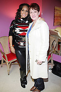 l to r: Alicia Keys and her mother, Terri Augello at the Dr. Barbara Ann Teer's Institute of Action Arts launch for the 41st  Communication Arts Program Symposium held at The National Black Theater in Harlem, NY on March 27, 2009