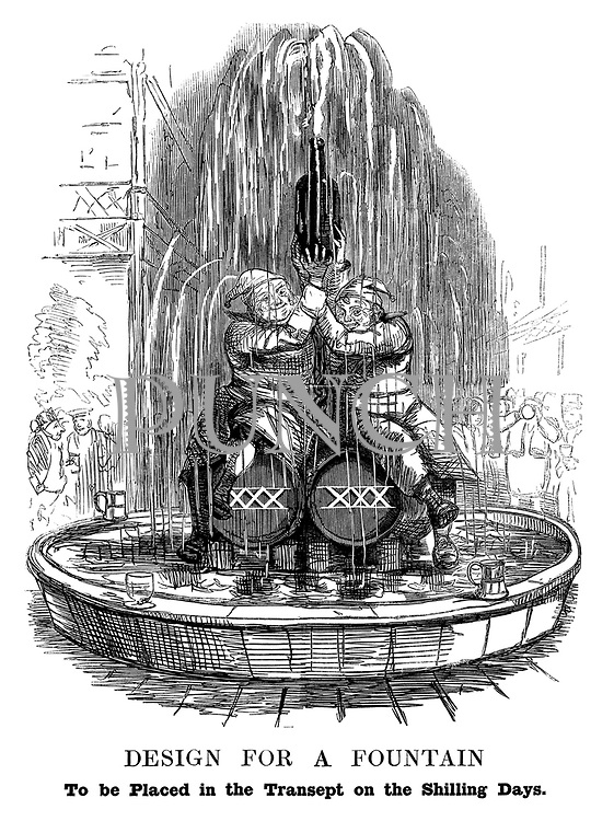 Design for a Fountain. To be placed in the transept on the shilling days.