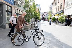 Bill Murray and dr. Janez Bogataj at exclusive after-work get-together in the company of Slovenia Vodka on June 5, 2017 in Restaurant and Bar Atelje, Ljubljana, Slovenia. Photo by Matic Klansek Velej / Sportida