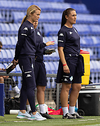 BIRKENHEAD, ENGLAND - Sunday, August 29, 2021: London City Lionesses' manager Melissa Phillips during the FA Women's Championship game between Liverpool FC Women and London City Lionesses FC at Prenton Park. London City won 1-0. (Pic by Paul Currie/Propaganda)
