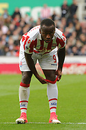 Sadio Berahino of Stoke city looks on.  Premier league match, Stoke City v West Ham Utd at the Bet365 Stadium in Stoke on Trent, Staffs on Saturday 29th April 2017.<br /> pic by Bradley Collyer, Andrew Orchard sports photography.