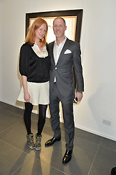 OLIVIA INGE and JEAN-DAVID MALAT at a private view of works by Fernando Botero held at the Opera Gallery London, 134 New Bond Street, London on 10th February 2015.