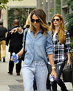 Sept. 9, 2014 - New York, New York, U.S. - <br /> <br /> Jessica Alba Out In New York<br /> <br /> Actress JESSICA ALBA wears double denim as she leaves a downtown hotel. <br /> ©Exclusivepix