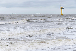 Waves stormy weather shipping oil-tanker
