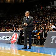 Anadolu Efes's Coach Dusan Ivkovic during their Turkish Airlines Euroleague Basketball Top 16 Round 2 match Anadolu Efes between Unicaja Malaga at Abdi ipekci arena in Istanbul, Turkey, Friday January 09, 2015. Photo by Aykut AKICI/TURKPIX