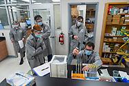 Anthony Chianese, Professor of Chemistry, instructs CHEM 264LF: Organic Chemistry II in 208 Wynn Hall March 17, 2021 in Hamilton, N.Y.