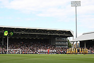 Fulham & Sheffield Wednesday observe a minute's applause for the victims of the recent Barcelona terrorist attacks. EFL Skybet championship match, Fulham v Sheffield Wednesday at Craven Cottage in London on Saturday 19th August 2017<br /> pic by Steffan Bowen, Andrew Orchard sports photography.