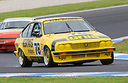 Hugh Harrison - Alfa Romeo GTV 6 - Group B.Historic Motorsport Racing - Phillip Island Classic.18th March 2011.Phillip Island Racetrack, Phillip Island, Victoria.(C) Joel Strickland Photographics.Use information: This image is intended for Editorial use only (e.g. news or commentary, print or electronic). Any commercial or promotional use requires additional clearance.
