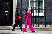 Welsh Secretary Alun Cairns and Chief to the Treasury Liz Truss leave 10 Downing Street following a weekly cabinet meeting on 25th June 2019 in London, United Kingdom.