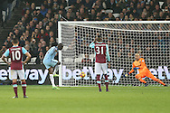 Yaya Toure of Manchester City scores his teams 4th goal from a penalty to make it 0-4. Premier league match, West Ham Utd v Manchester city at the London Stadium, Queen Elizabeth Olympic Park in London on Wednesday 1st February 2017.<br /> pic by John Patrick Fletcher, Andrew Orchard sports photography.
