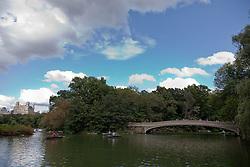 Bow Bridge in Central Park, NY