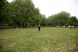 © Licensed to London News Pictures. 10/05/2020. London, UK. An empty London Fields park in Hackney, north London today, following a tweet from local police reporting that hundreds of people were having pizzas, beers and wine on the hottest day of the year so far during lockdown on Saturday 9 May. Later today, Prime Minister Boris Johnson is set to announce measures to ease the coronavirus lockdown, which was introduced on 23 March to slow the spread of the COVID-19. Photo credit: Dinendra Haria/LNP