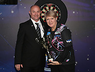 Lisa Ashton during the Women's Final at the BDO World Professional Championships at the O2 Arena, London, United Kingdom on 11 January 2020.