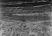 9305-A4520-1. Aerial view of Rail Yards, The Dalles, Oregon