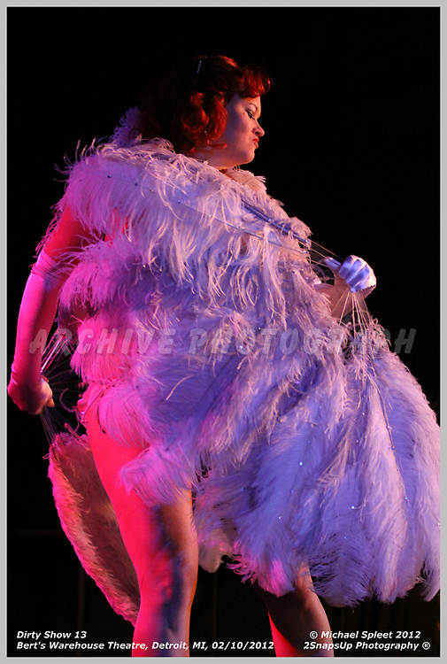 DETROIT, MI, FRIDAY, FEB. 10, 2012: Dirty Show 13, Lula La Rose at Bert's Warehouse Theatre, Detroit, MI, 02/10/2012.  (Image Credit: Michael Spleet / 2SnapsUp Photography)