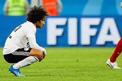 June 19, 2018 - Saint Petersburg, Russia - Amr Warda of Egypt national team reacts after losing in the 2018 FIFA World Cup Russia group A match between Russia and Egypt on June 19, 2018 at Saint Petersburg Stadium in Saint Petersburg, Russia. (Credit Image: © Mike Kireev/NurPhoto via ZUMA Press)